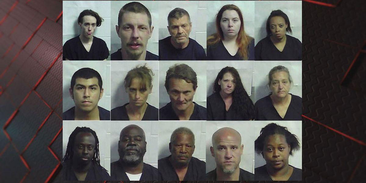Investigations warrant 15 drug-related arrests in Jeff Davis