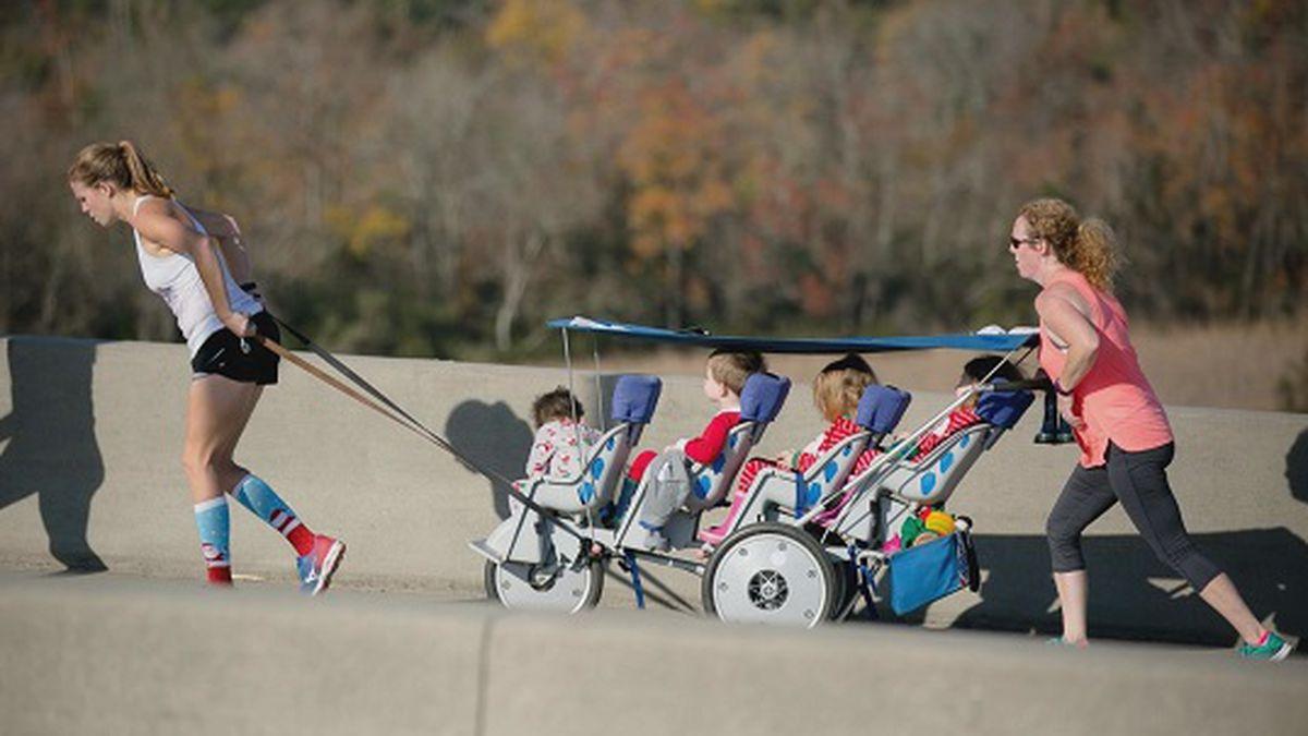 Good News: 'Quad Mom' runs races while pushing quadruplets