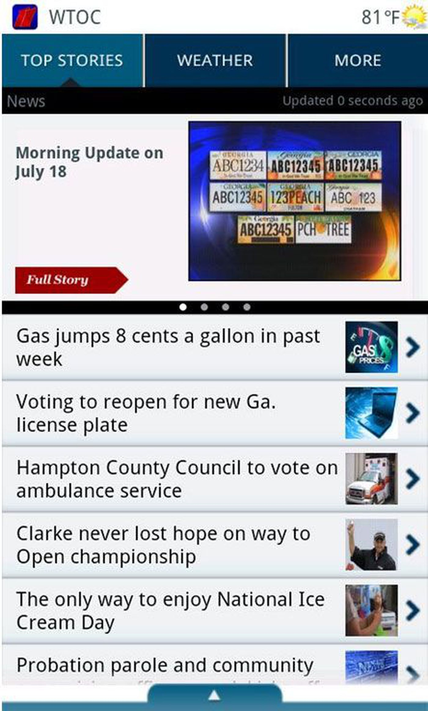 Download WTOC's news app