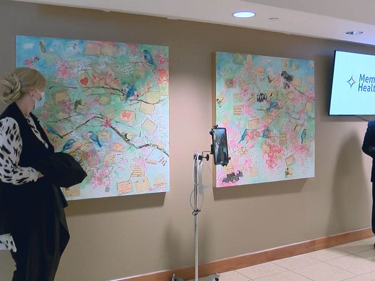 Local artist honors healthcare workers