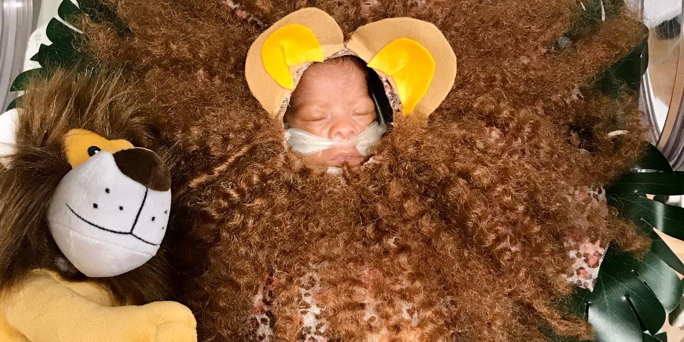 Halloween costume contest for NICU babies at Memorial Health
