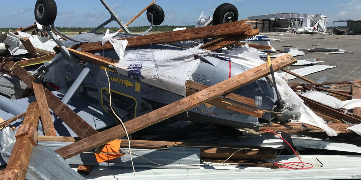 At least 20 planes destroyed at Walterboro airport after possible tornado