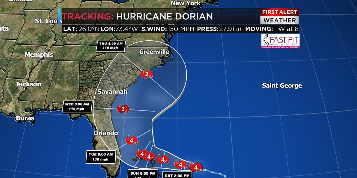 Tracking Dorian: Still forecast to pass to our east
