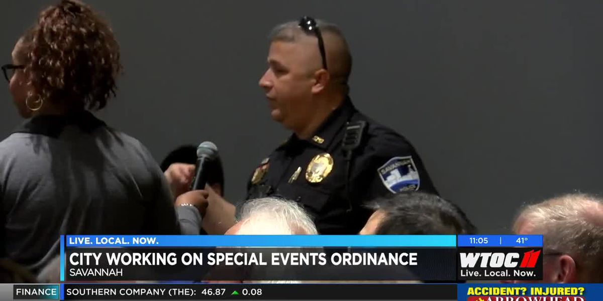 Savannah creating special events ordinance with resident feedback