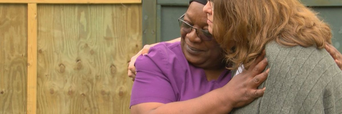 Organizations help 64-year-old woman repair her home after Hurricane Dorian