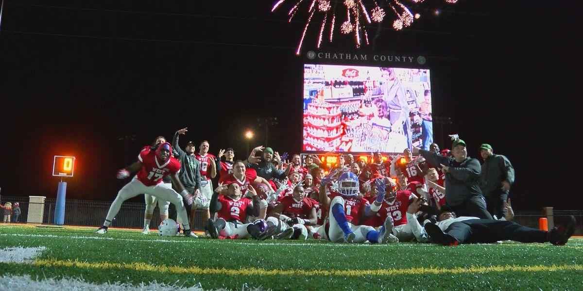 West Team wins first NAIA Senior Football Classic