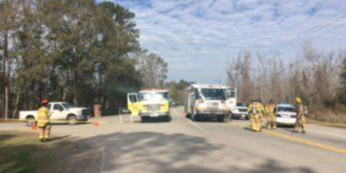 Portion of Little Neck Road closed due to unidentified material spill