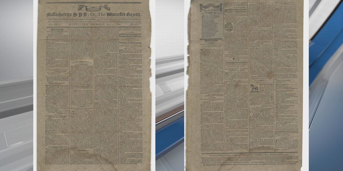 Newspaper from 1790 featuring George Washington's address to Savannah's Jewish community to be auctioned in Los Angeles