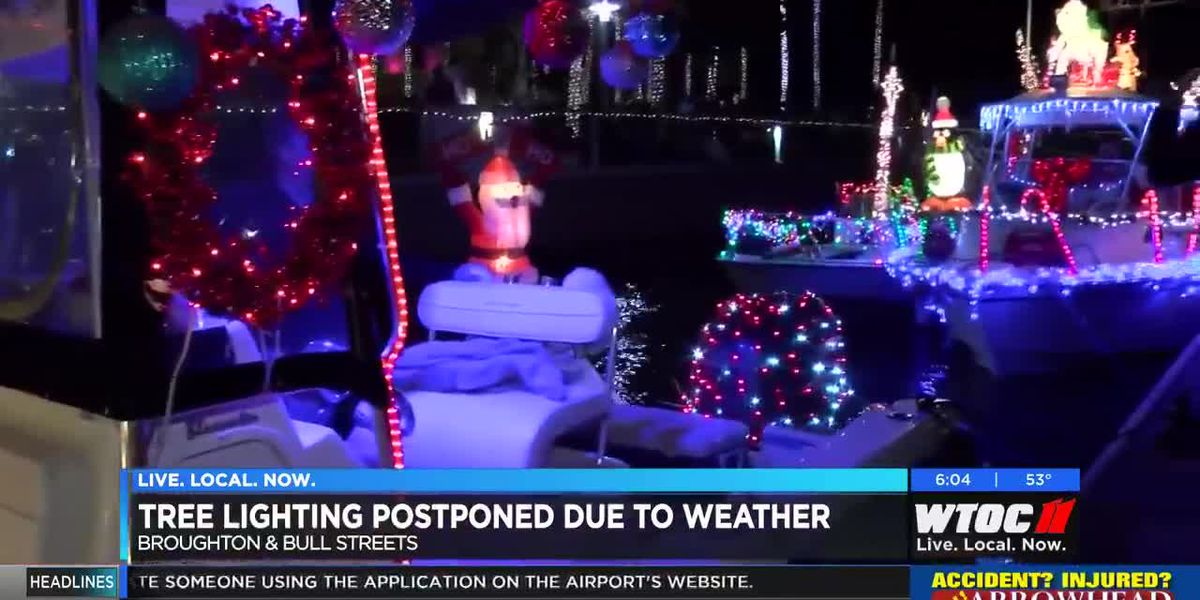 City of Savannah reschedules tree lighting to Saturday due to potential wet weather