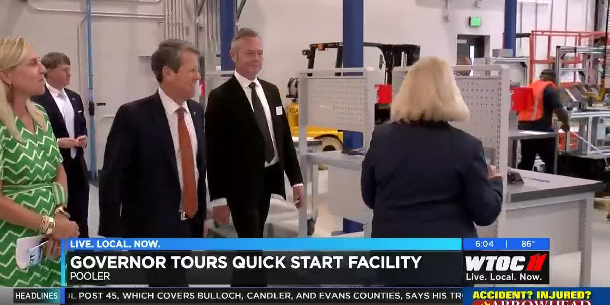 Gov. Kemp tours Quick Start facility in Pooler