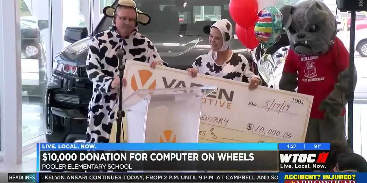 $10K donation for Computer on Wheels