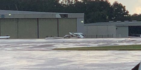 Imelda wind gusts topple small planes at Baton Rouge airport