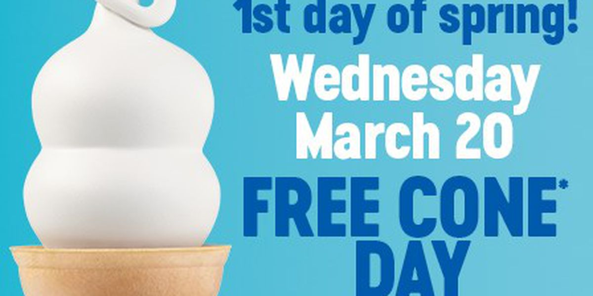 Dairy Queen offering free ice cream cone to celebrate first day of spring