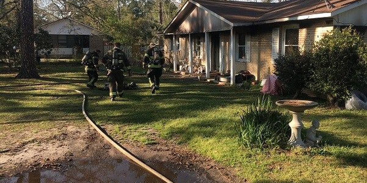 Jasper County family of five displaced after home catches fire