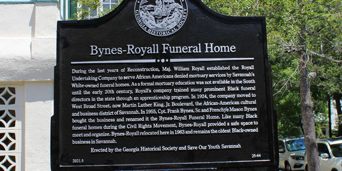 Savannah funeral home legacy gets historical marker