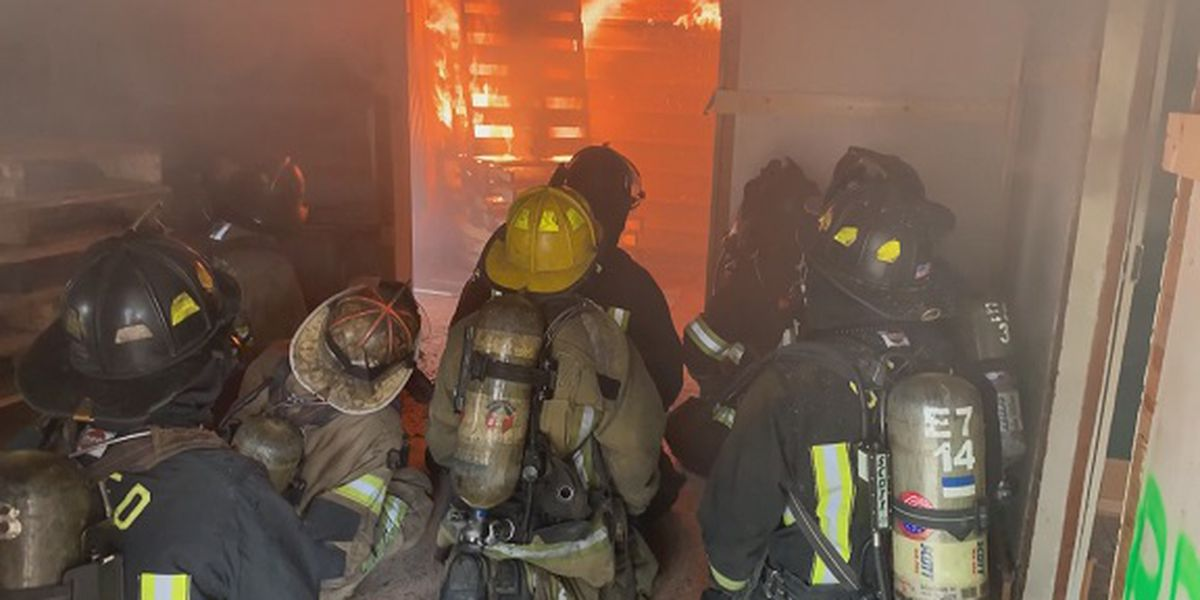 Dilapidated house set on fire for Screven County Fire training