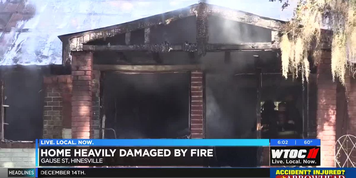 Hineville home heavily damaged by fire