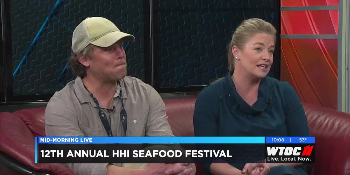 Chef Andrew Carmines and Kelly Smith announce this year's Hilton Head Island Seafood Festival