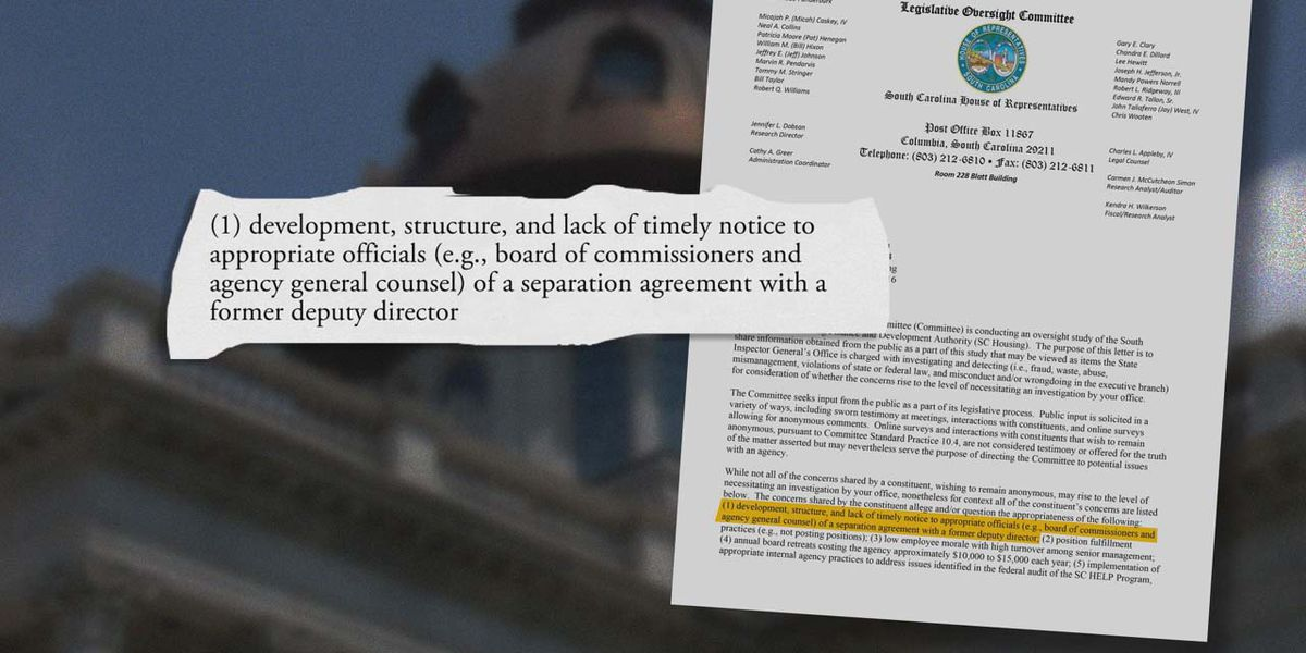 Inspector General reviewing allegations in letter from lawmakers studying state housing agency