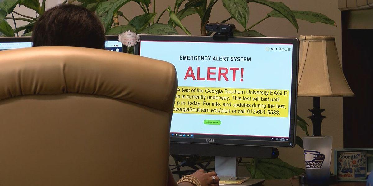 Georgia Southern University testing Eagle Alert system