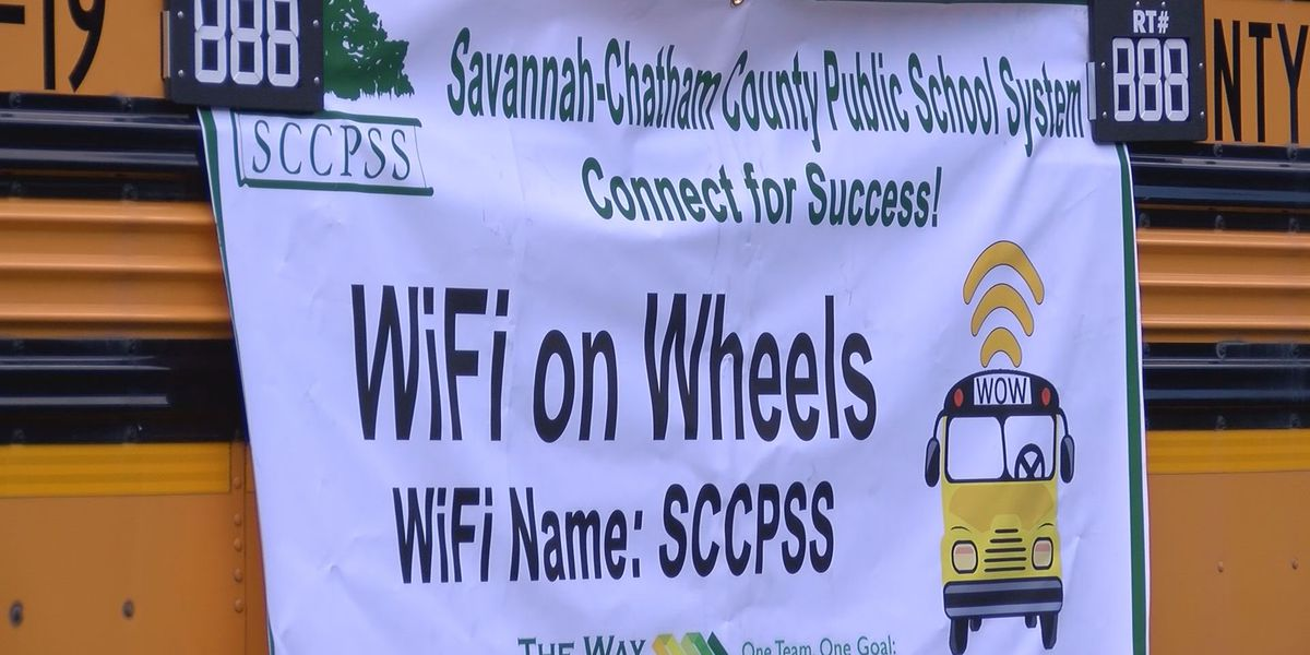 Savannah-Chatham school buses outfitted with WiFi hotspot technology for students