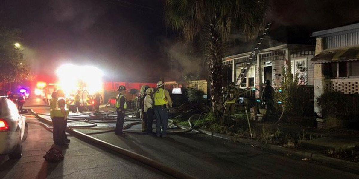Savannah Fire battles blaze at home under construction on Millen Street