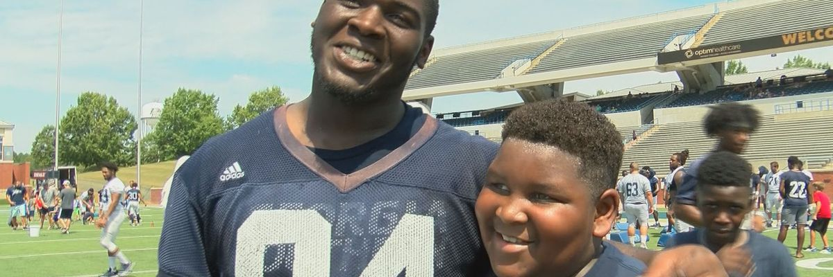 Georgia Southern hosts first fall scrimmage, Little Eagles clinic