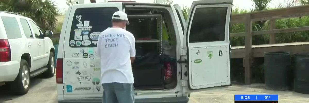 Volunteers clean up an estimated 6,000 cigarette butts after Tybee's Fourth of July celebration