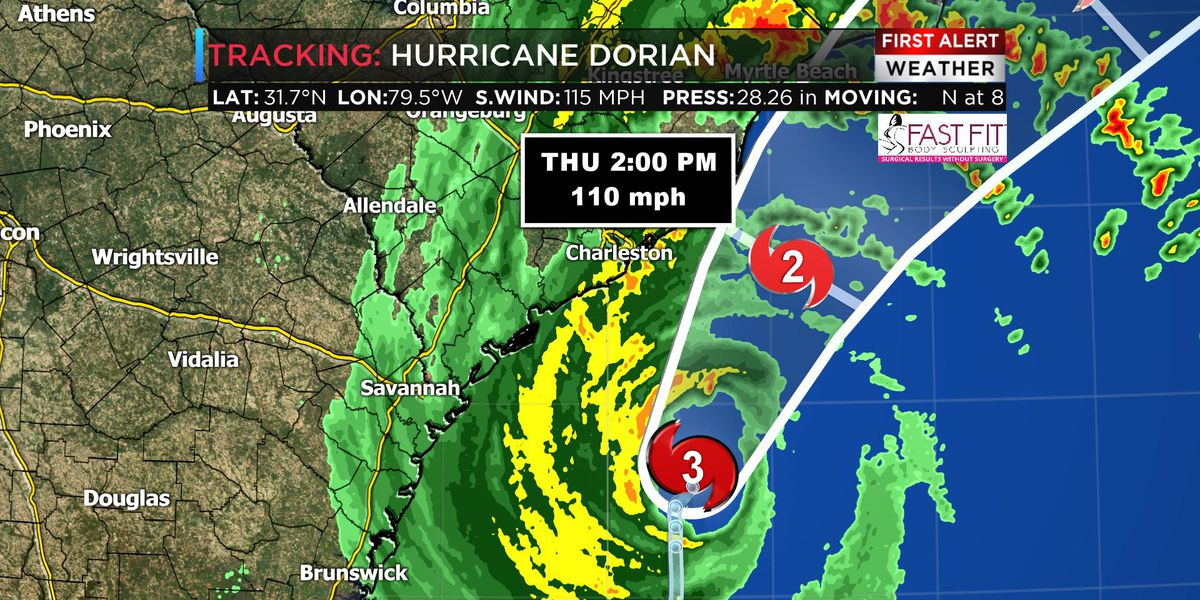 Tracking Dorian: Conditions improving as Dorian pushes north