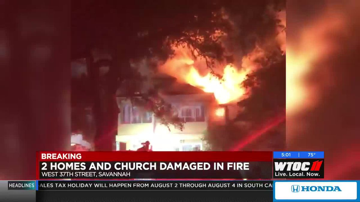 2 homes, church damaged by fire on W. 37th Street in Savannah