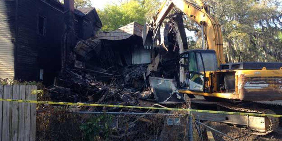 LIVE at 4: What's left of fire-damaged home after demolition?