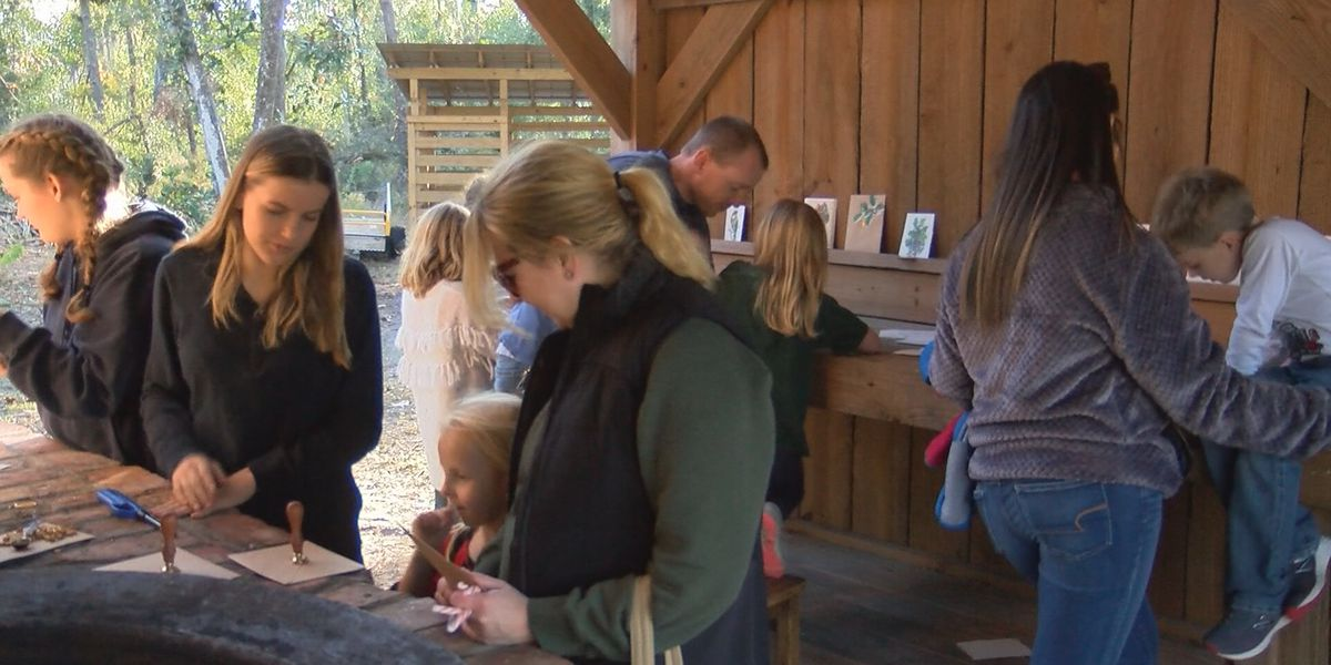 Families learn about old holiday traditions at Oatland Island