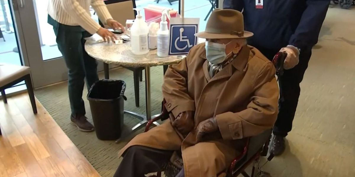 103-year-old man who survived 1918 pandemic and Holocaust receives COVID-19 vaccine