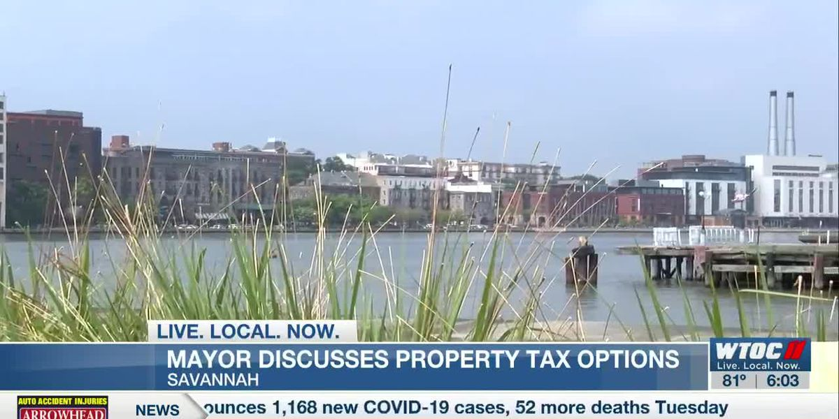 Mayor Johnson discusses property tax options in Savannah