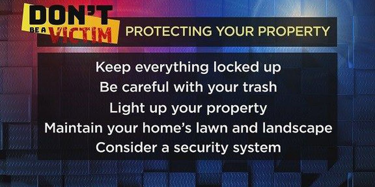 Don't Be a Victim: Summer property crime
