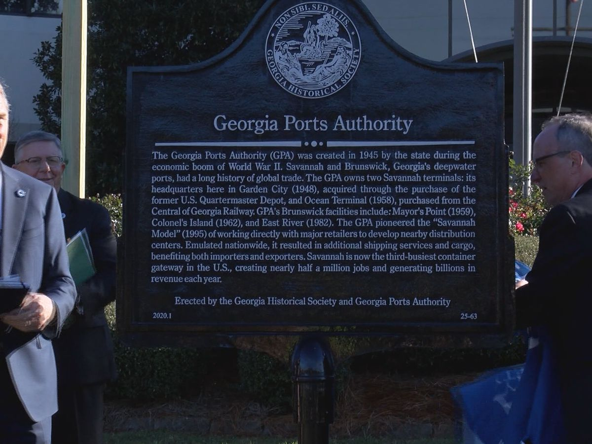 Historical marker honors 75 years of Georgia Ports Authority