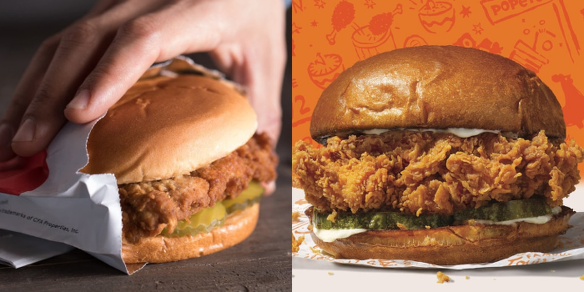'Clash of the Titans': Chick-fil-A, Popeyes compete for best chicken sandwich title