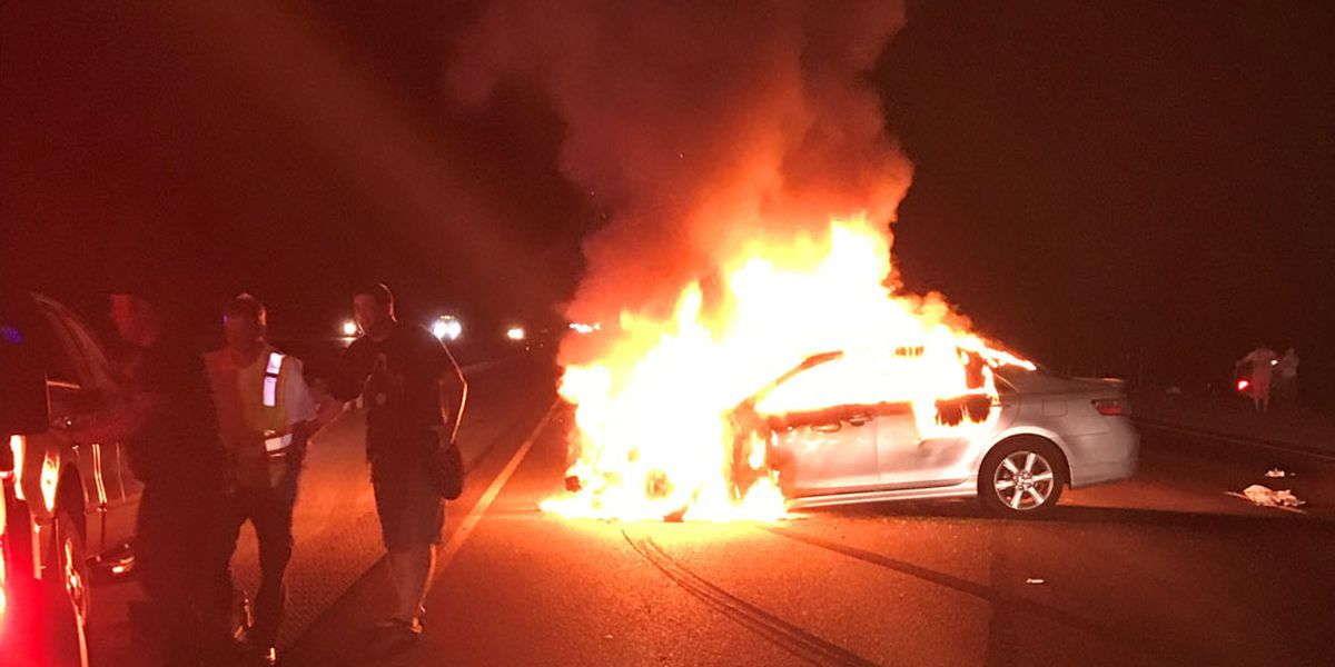 Driver arrested after fiery crash on I-95 in Liberty County
