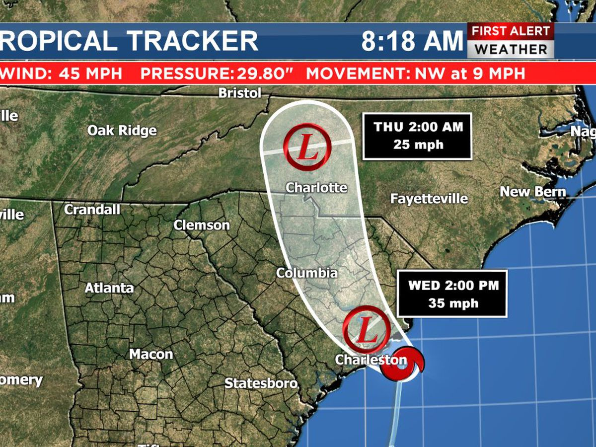 Tropical Storm Bertha forms off the South Carolina coast