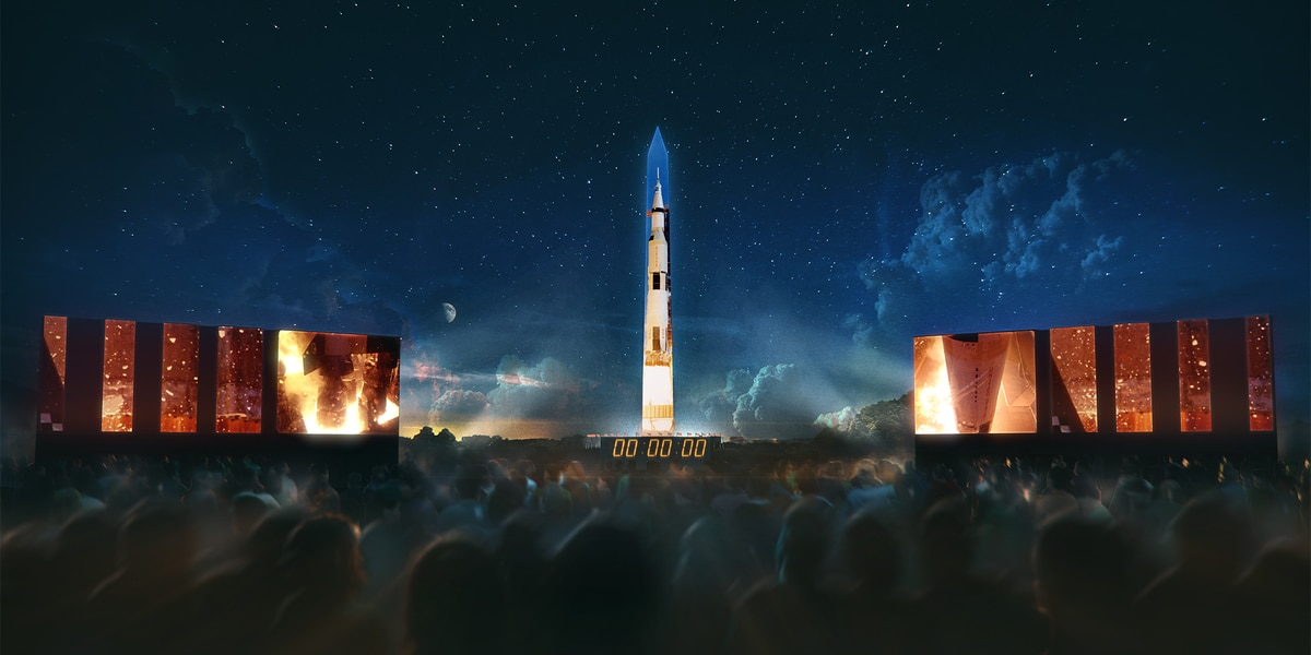 Washington Monument will become Apollo 11 rocket next week