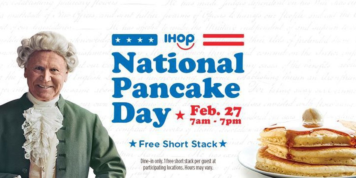 IHOP offering free short stack Tuesday for National Pancake Day
