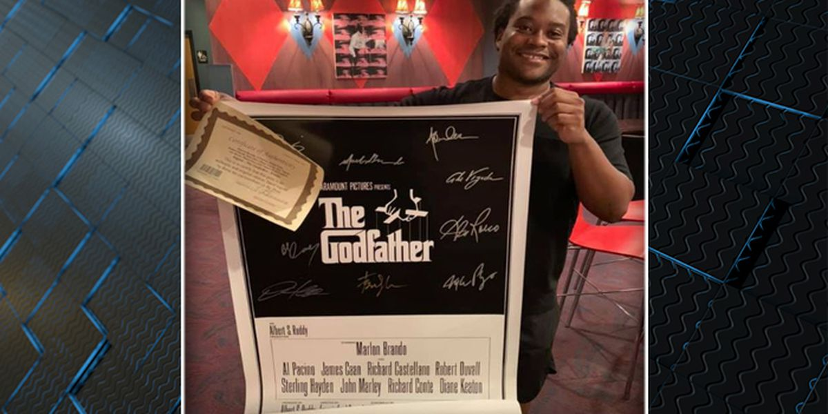 After 'Godfather' poster is stolen, Lowcountry theater receives new autographed copy