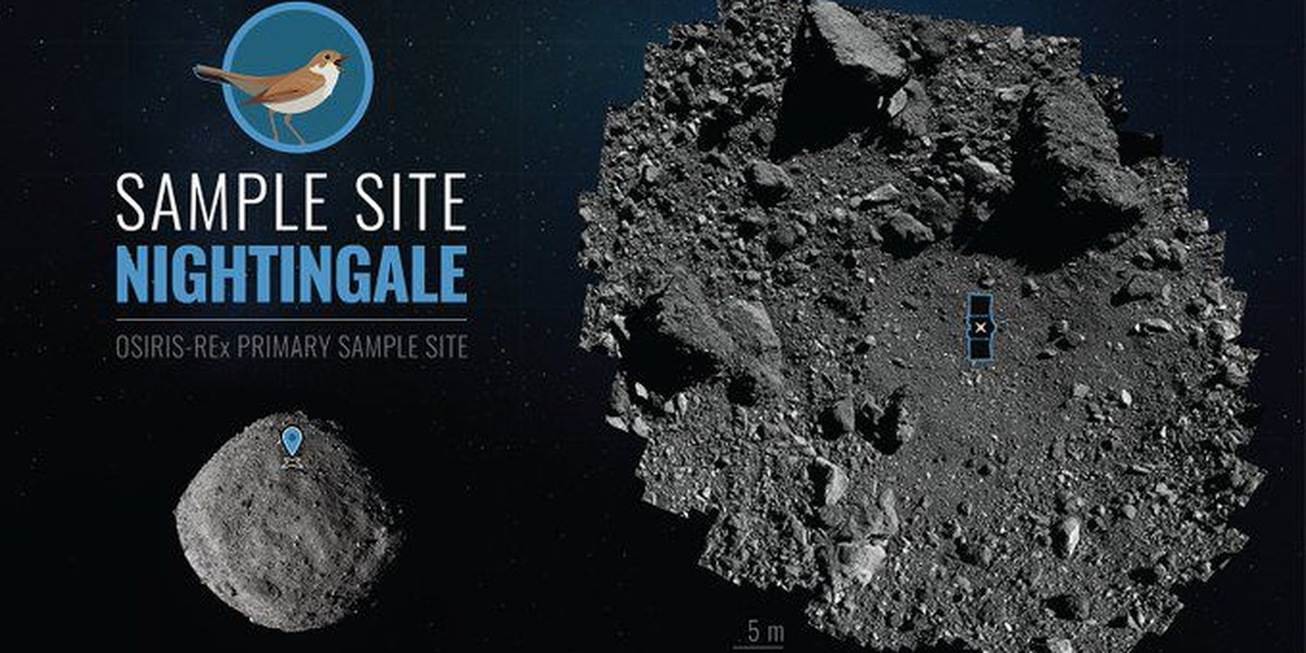 US spacecraft sampling asteroid for return