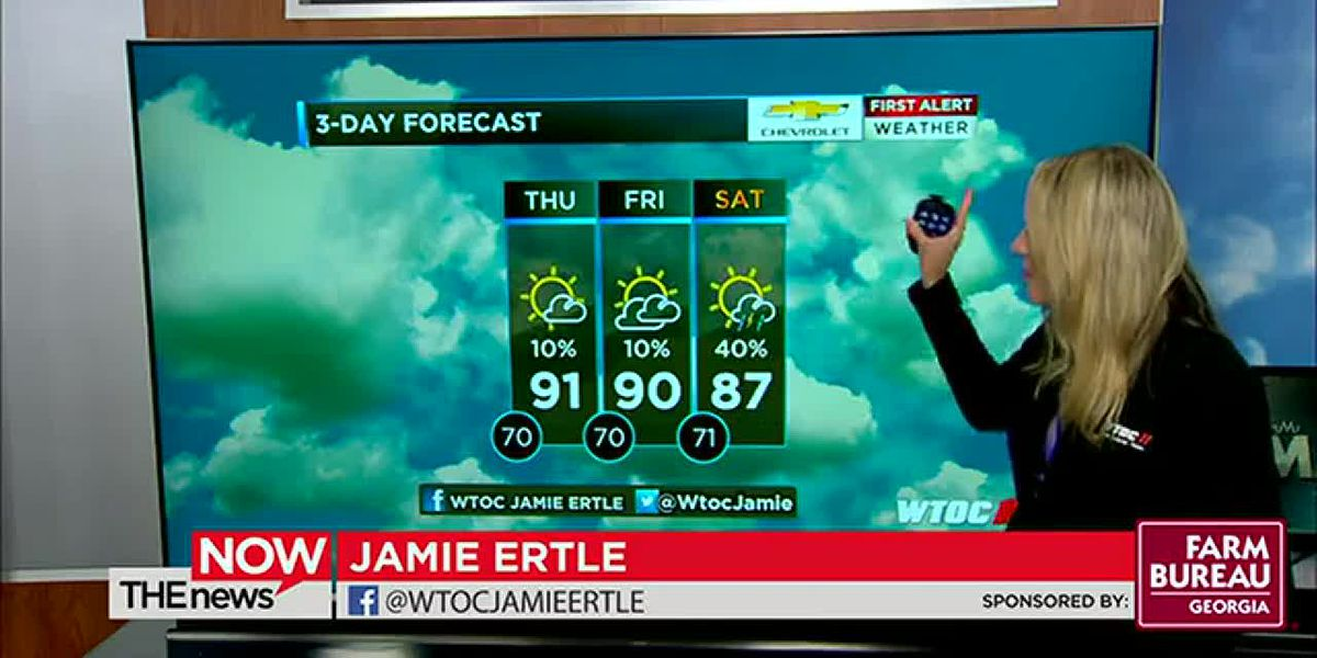 It was a hot, dry day. Jamie's got a look at upcoming rain chances on The News Now.