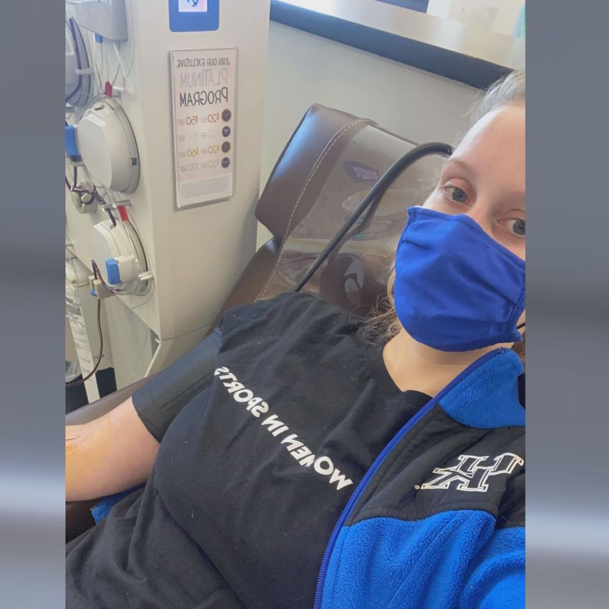 WTOC's Lyndsey Gough donates COVID-19 plasma for second time