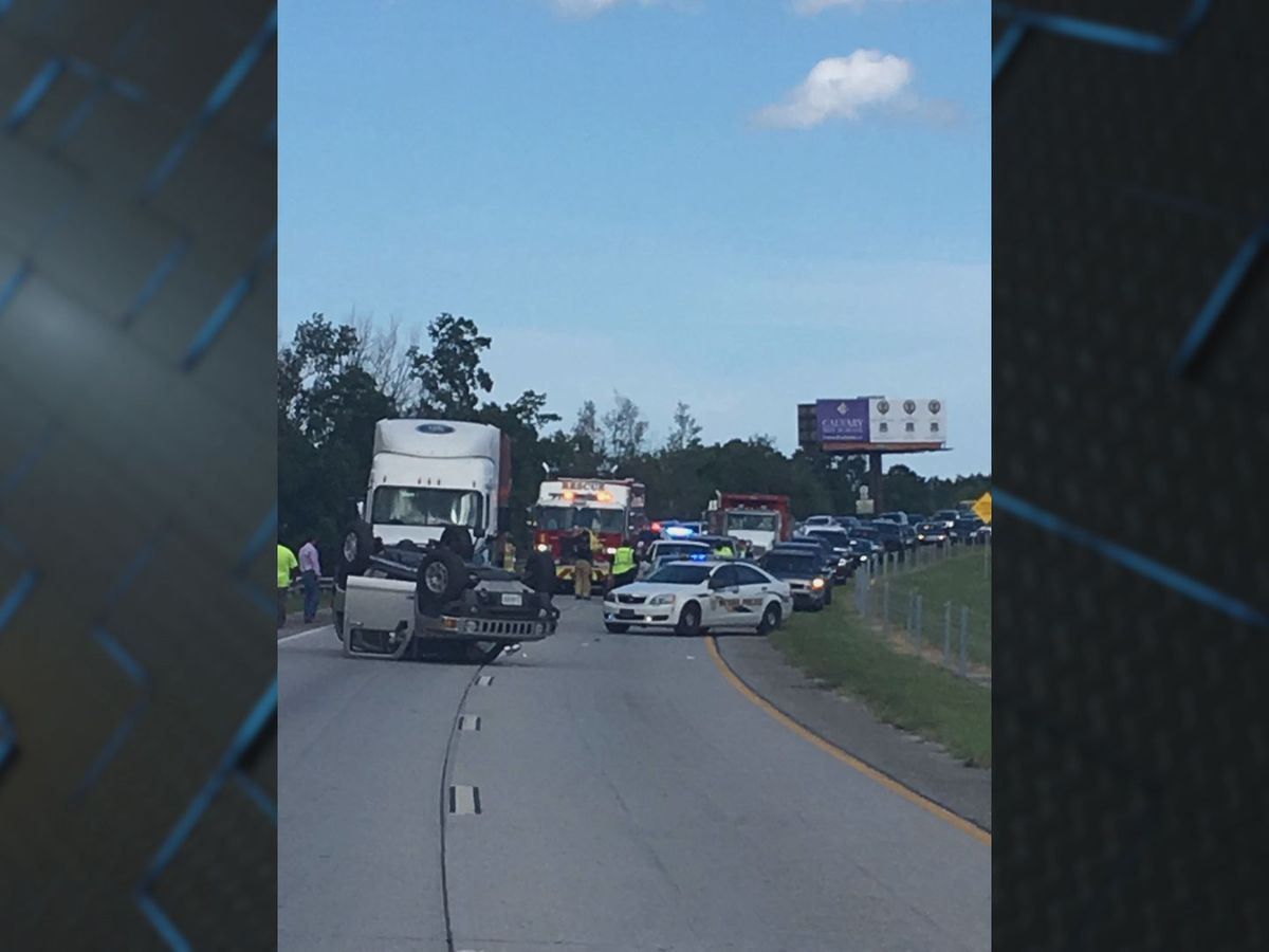 Driver seriously injured in crash with tractor-trailer on I-16