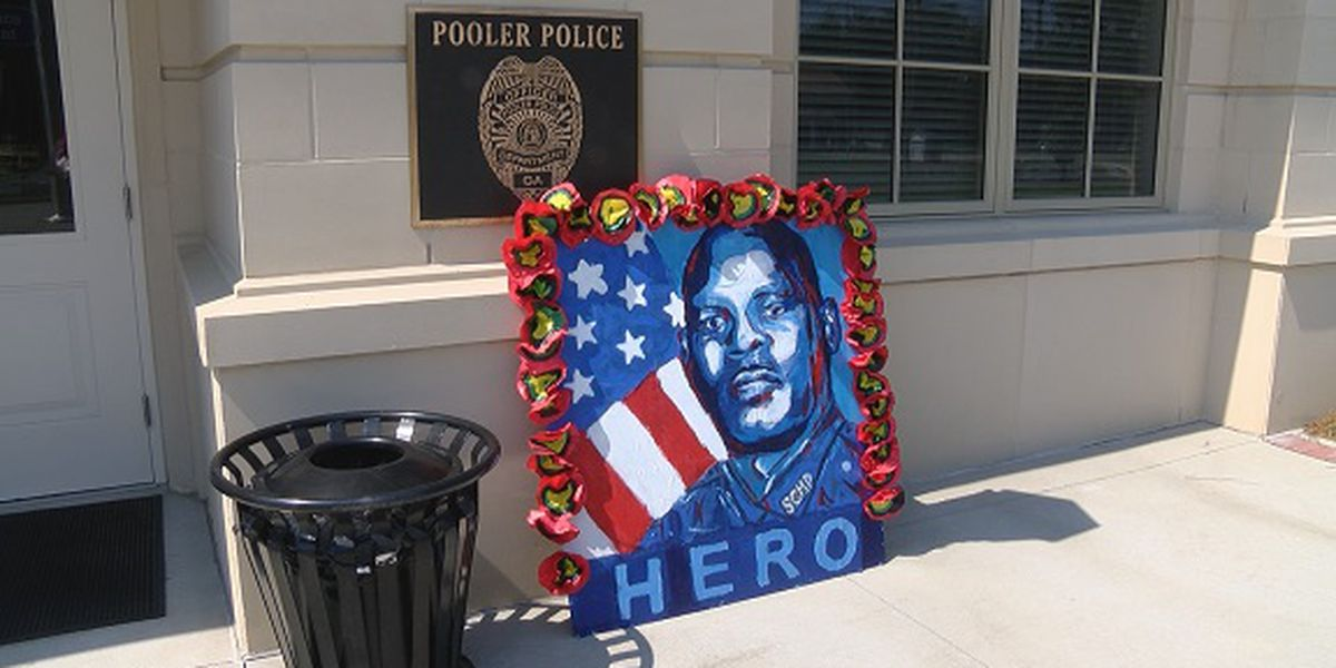 Law enforcement, students in Pooler paying tribute to fallen Savannah police officer