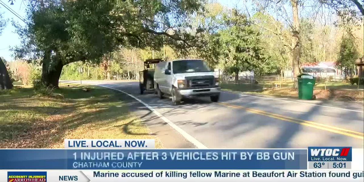 Multiple vehicles shot with BB gun while traveling on Chevis Road