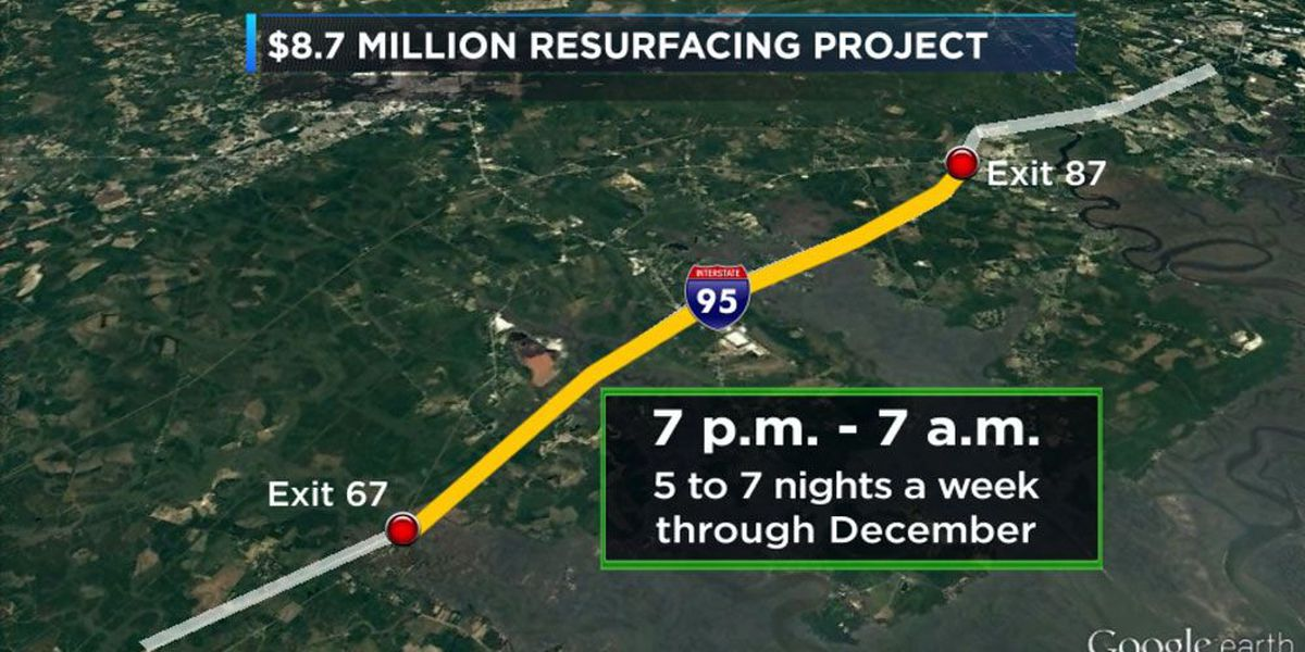 I-95 resurfacing project set to begin Tuesday