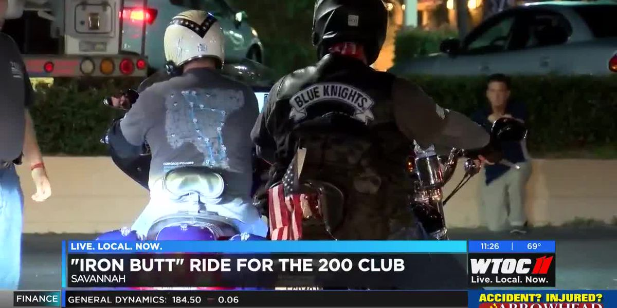 Blue Knights take off on 'Iron Butt' Ride for 200 Club